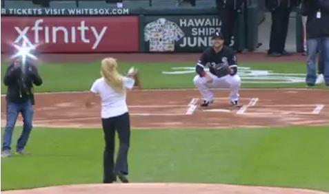 This might be the worst first pitch in history