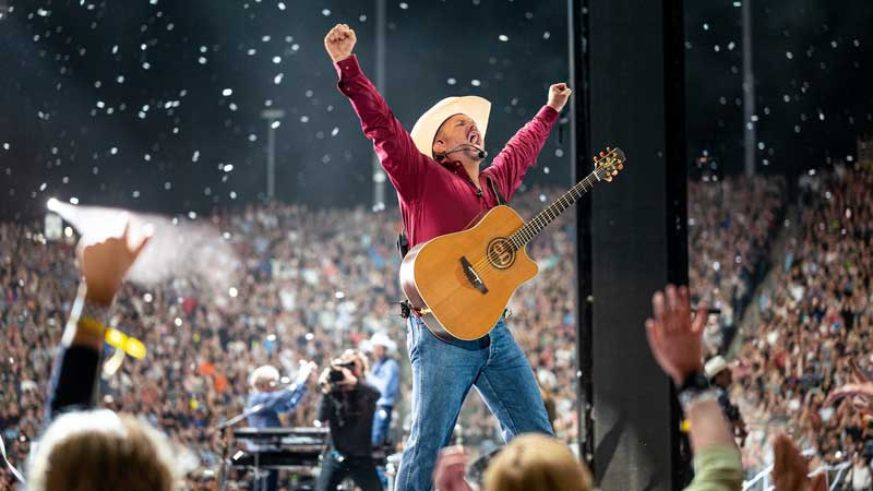 Garth Brooks One Night Only Show At Getty Drive In Thunder