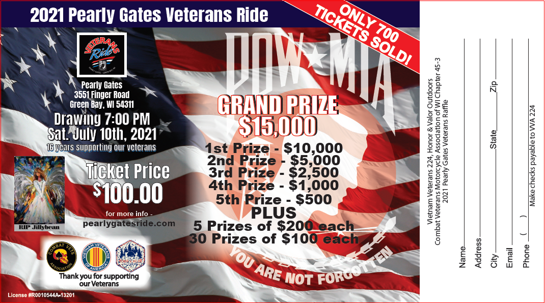 Fan Supports The Pearly Gates Veterans Ride