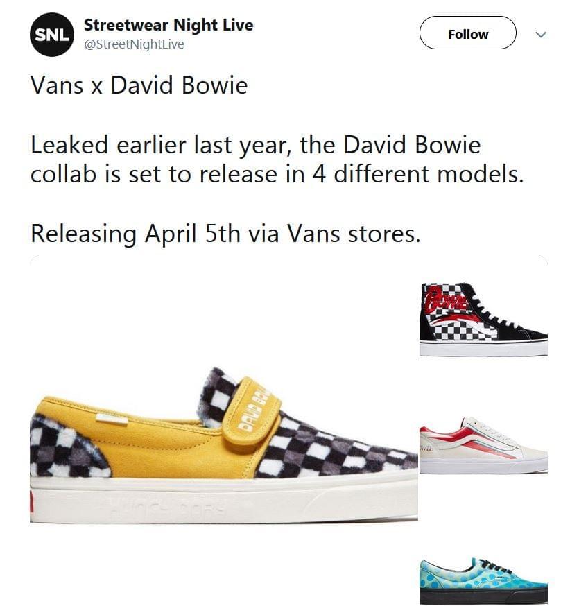 Vans to Release David Bowie Themed Sneakers   WKRU FM