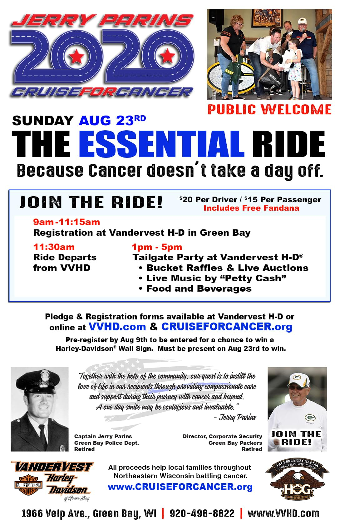 """Jerry Parins """"Cruise For Cancer"""""""