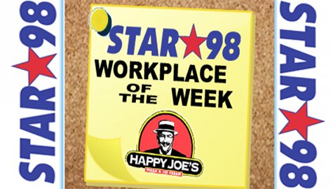 Be a Lunchtime Hero with Happy Joe's and Star 98!!!