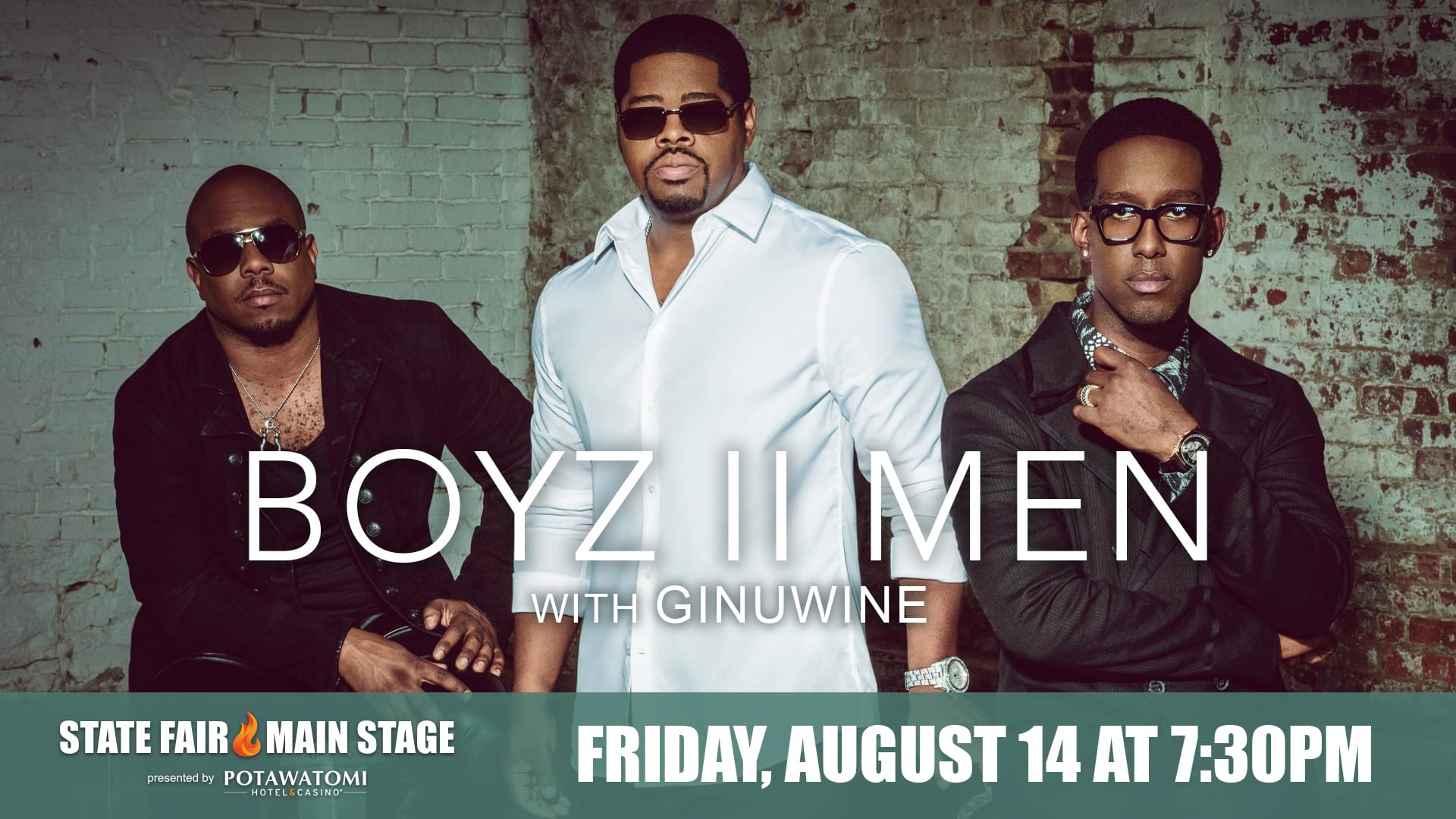 BOYZ II MEN coming to the Wisconsin State Fair in August!