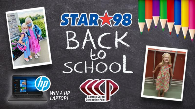 Time to Vote in the Back to School Photo Contest with Camera Corner Connecting Point and Star 98!