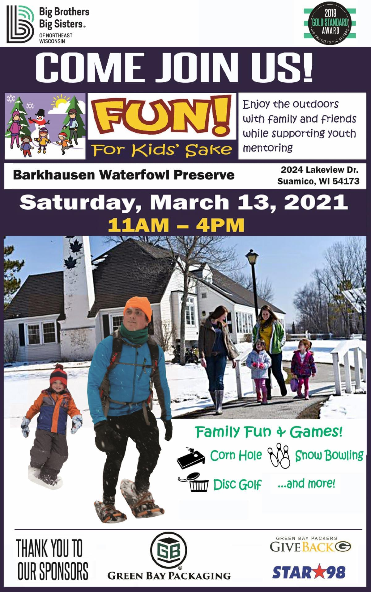 Join us for Fun for Kids Sake Event at Barkhausen Waterfowl Preserve