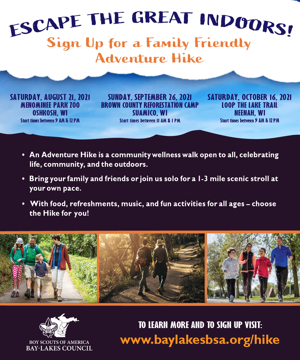 Join the Scouts for an Adventure Hike September 26th