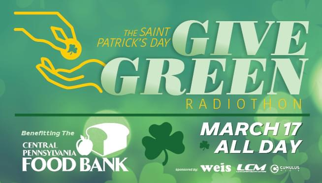 Support our Give Green Radiothon for the Central PA Food Bank