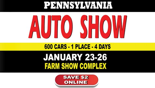 The 2020 Pennsylvania Auto Show is January 23-26