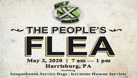 Join 105.7 the X and Keystone Human Services for The People's Flea Market!
