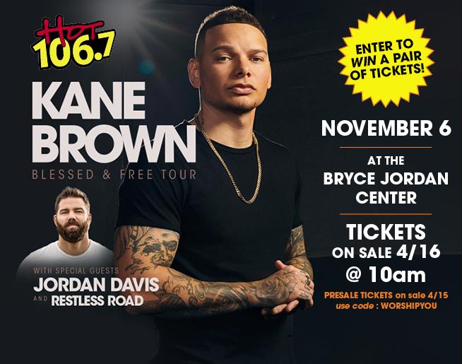 Kane Brown Concert Ticket Giveaway