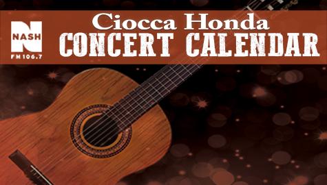 Ciocca Honda Concert Calendar