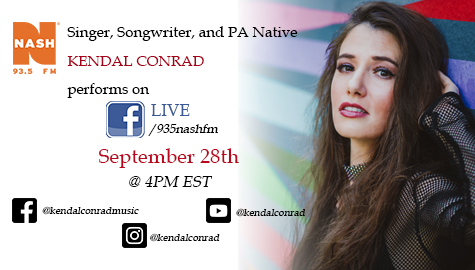 SAVE THE DATE – KENDAL CONRAD LIVE ON FACEBOOK
