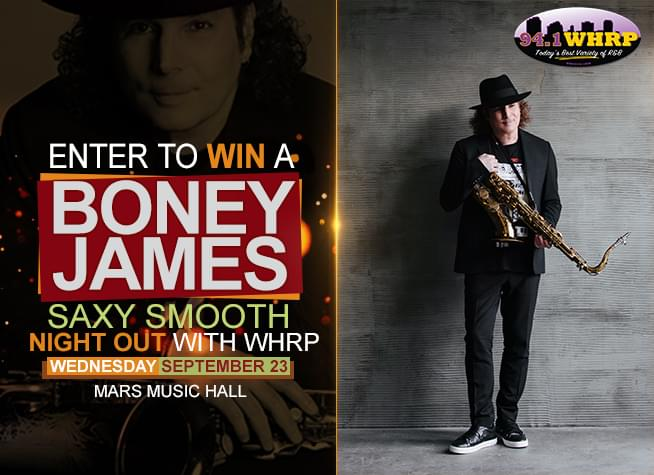Enter To Win A Boney James Saxy Smooth Night Out – Wednesday, September 23!
