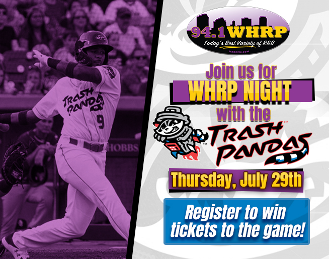 Win tickets to WHRP Night with the Rocket City Trash Pandas!!