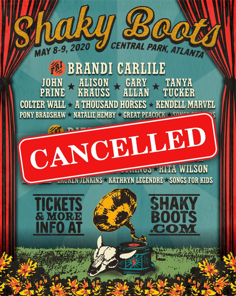"""""""Shaky Boots Festival"""" has been CANCELLED!"""
