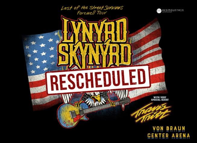 Lynyrd Skynyrd at Von Braun Center Arena – RESCHEDULED!