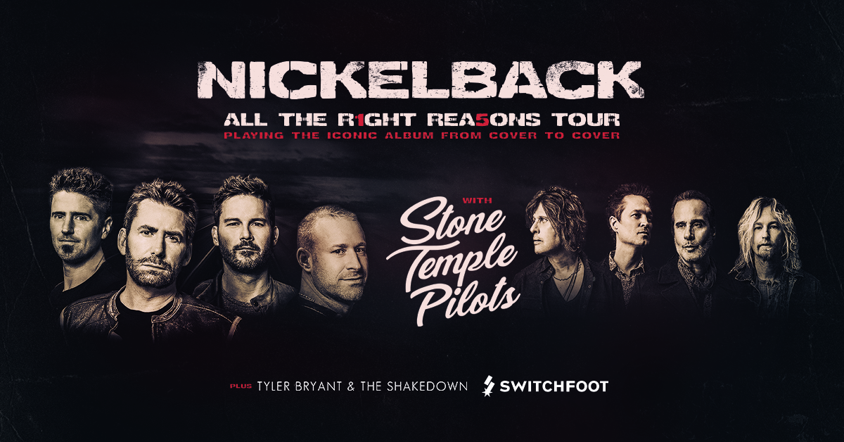 Go See Nickelback at the Bridgestone Arena!