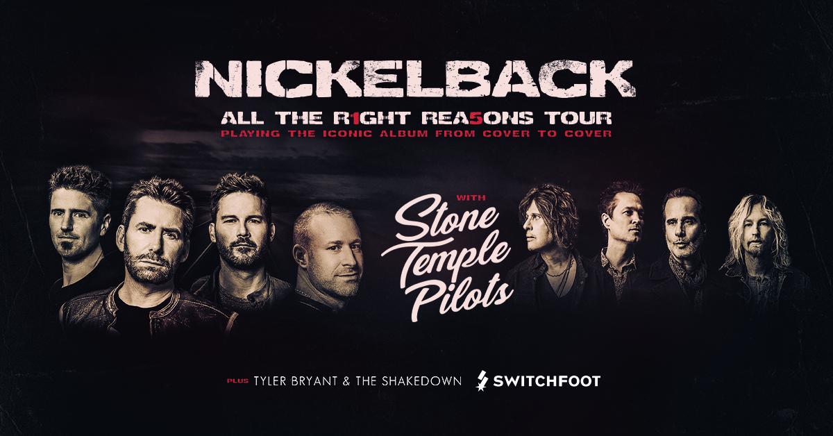 Go See Nickelback at the Bridgestone Arena!