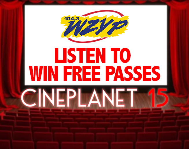 Listen to win FREE PASSES to Cineplanet 15 in Madison!!
