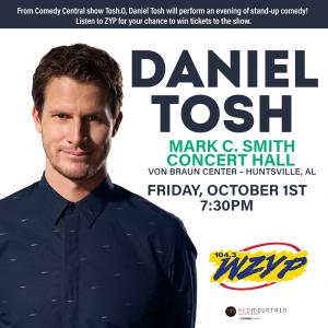 Win tickets to see Daniel Tosh Friday, October 1st at the Von Braun Center!!