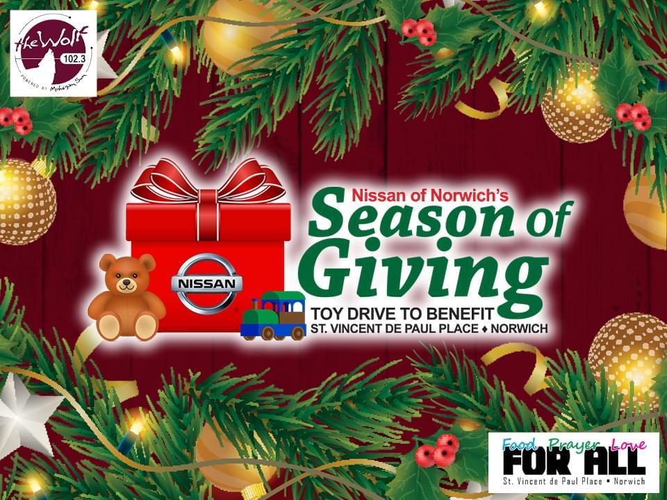 Nissan of Norwich's Season of Giving!