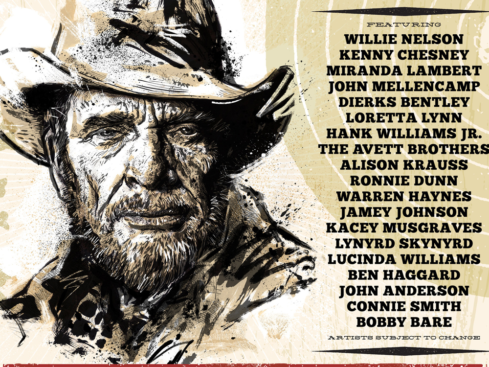 Merle Haggard Tribute Concert Will Feature Willie Nelson, Kenny Chesney, Miranda Lambert & More Than a Dozen Other Stars