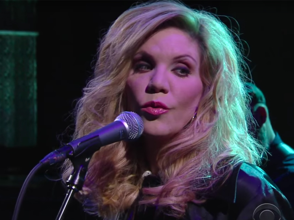 """Watch Alison Krauss Cover Willie Nelson's """"I Never Cared for You"""" on """"Stephen Colbert"""""""