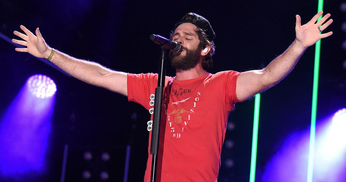 "Thomas Rhett Scores 16th No. 1 Single as ""Be a Light"" Tops Mediabase Chart"