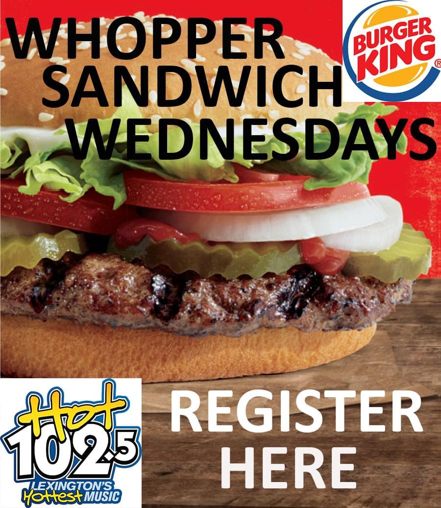Whopper Sandwich Wednesdays