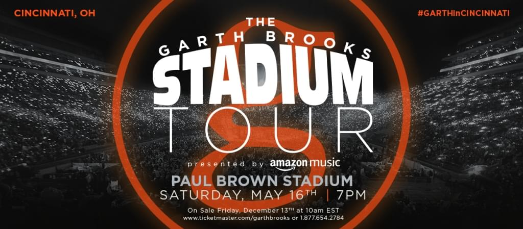 GARTH BROOKS COMING TO PAUL BROWN STADIUM
