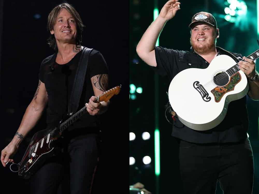"Watch Luke Combs Close Nashville Show by Teaming With Keith Urban on ""Hurricane"""
