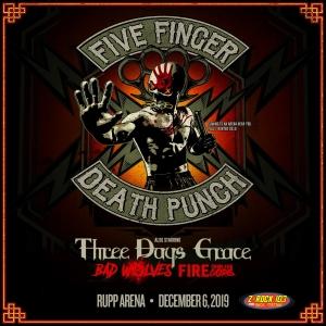 Five Finger Death Punch at Rupp Arena!!