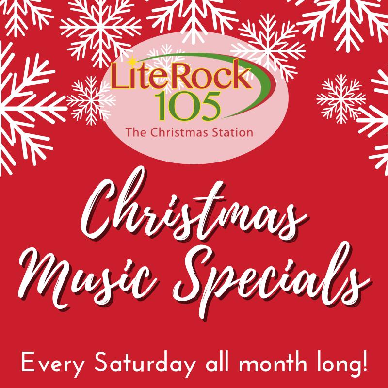 Lite Rock 105's Saturday Night Christmas Music Specials!