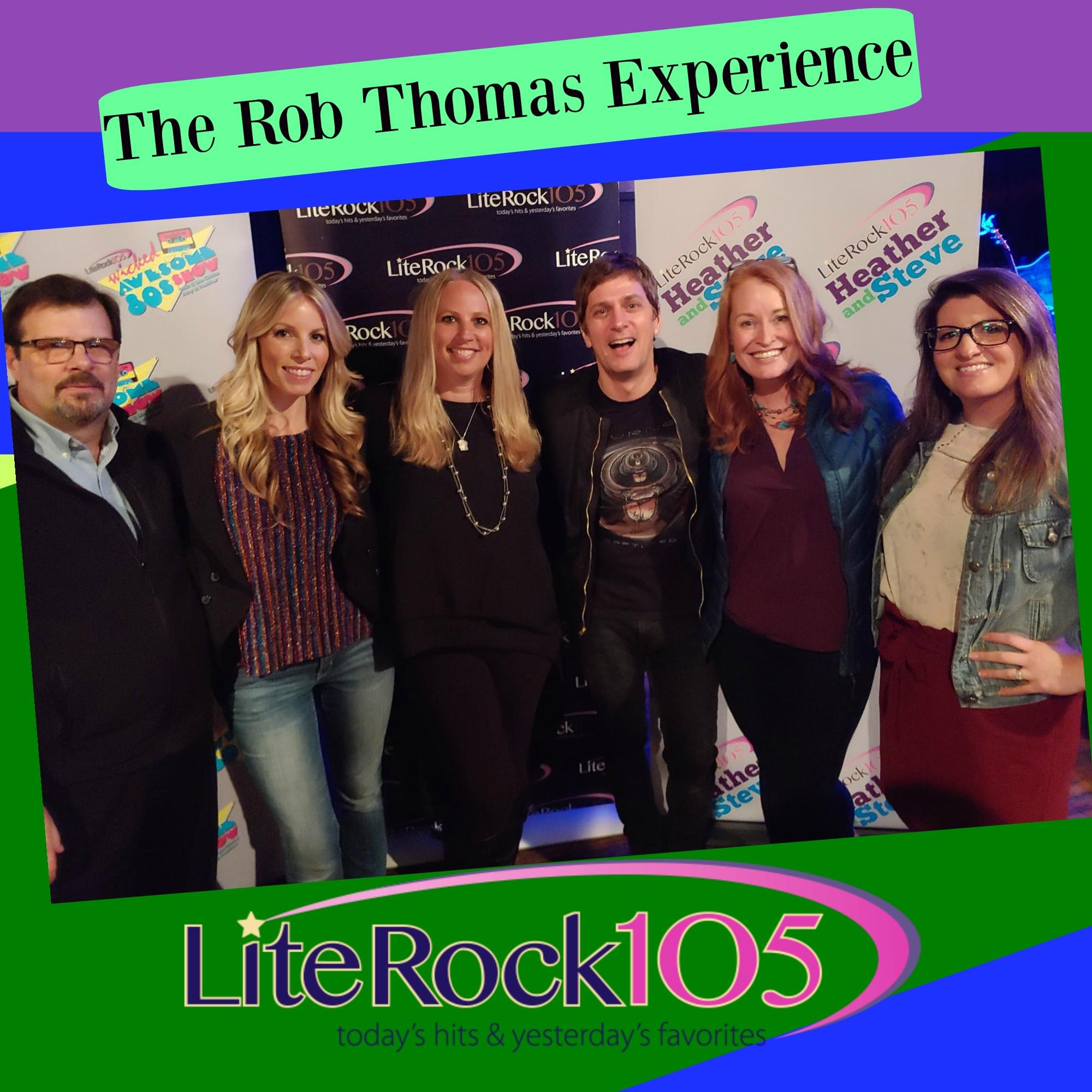 WATCH >> Pics and Video from Lite Rock 105's Rob Thomas Experience
