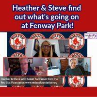 Heather & Steve with FENWAY PARK news!