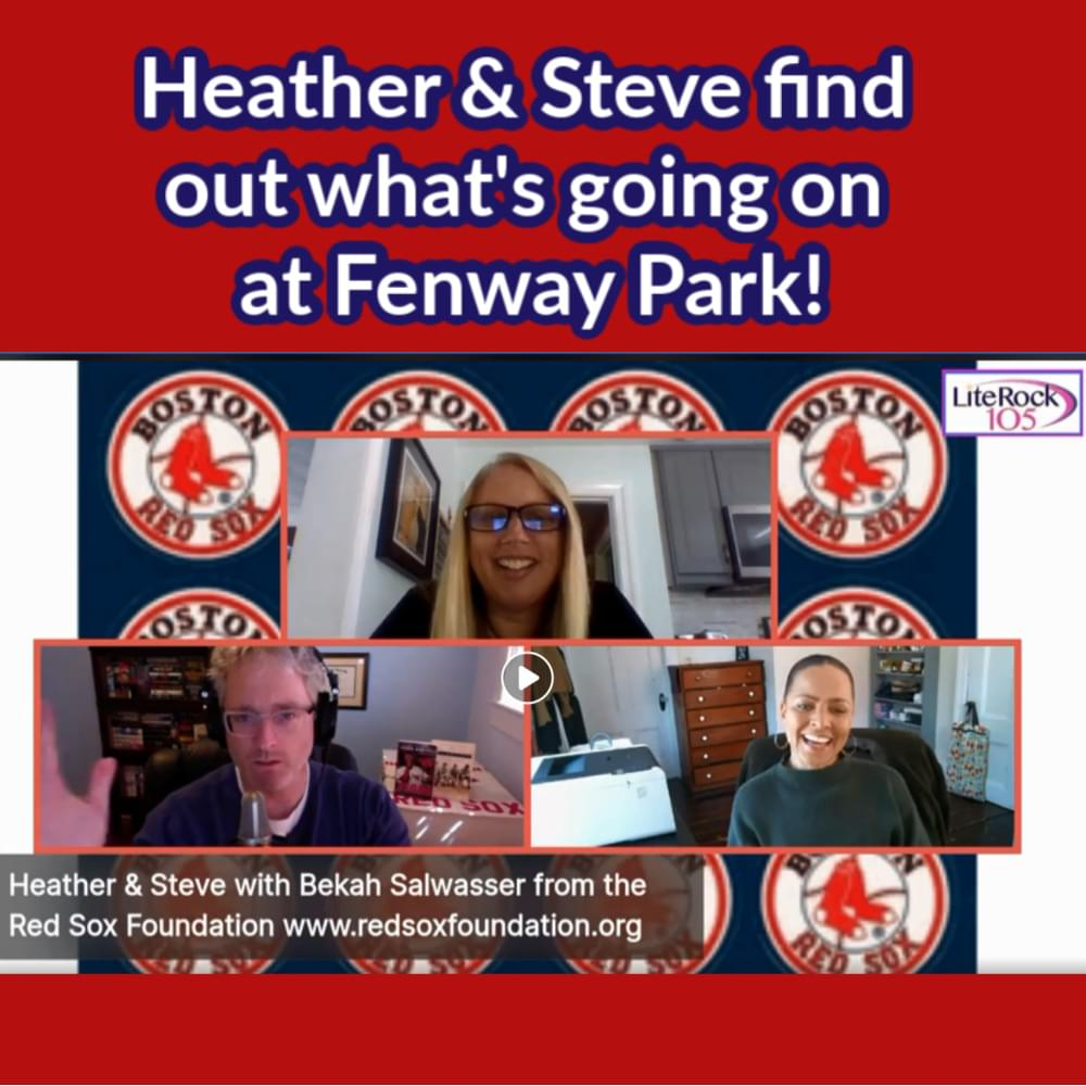Heather & Steve with FENWAY PARK news!