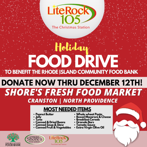 Lite Rock 105's Holiday Food Drive