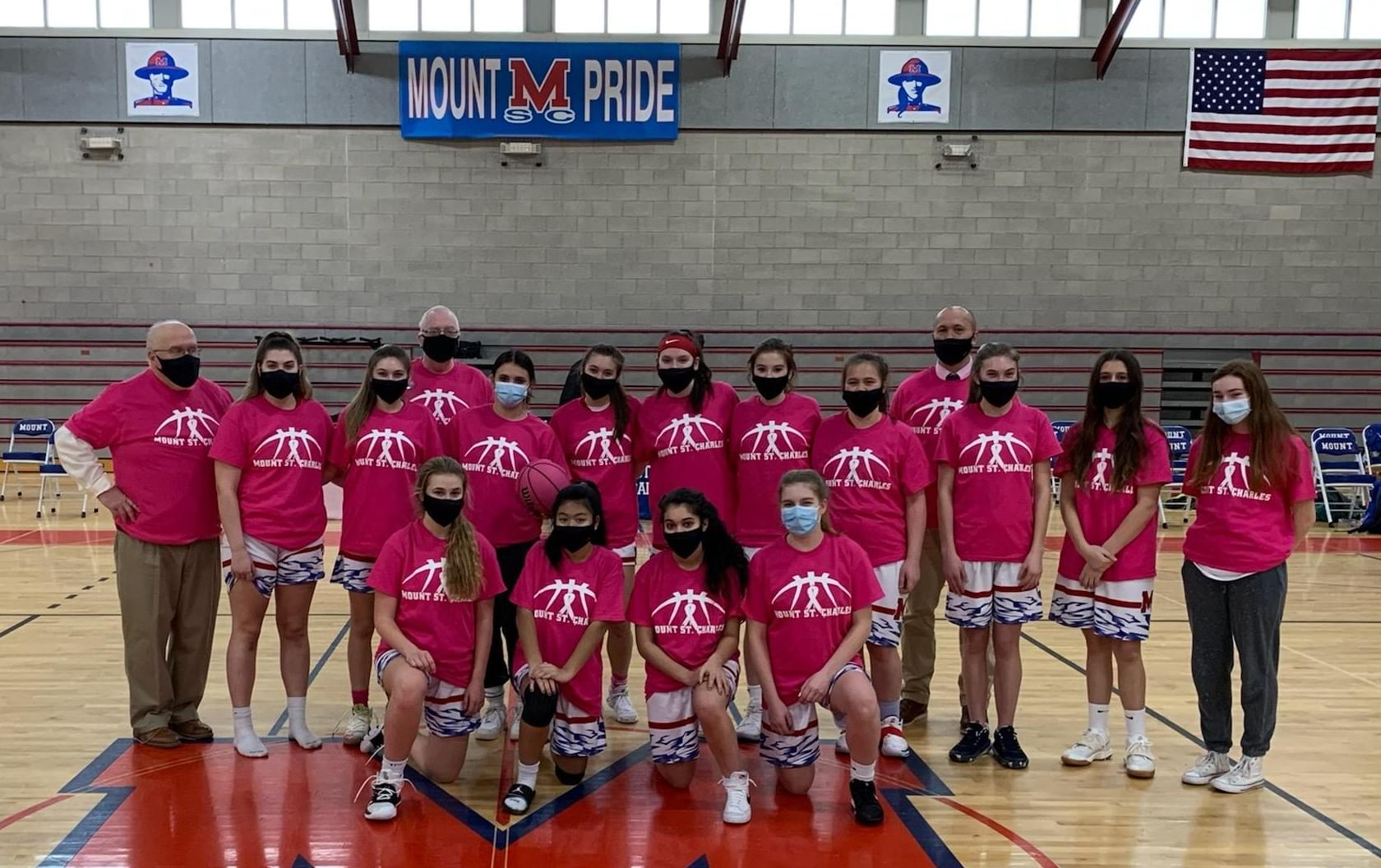 Mount St. Charles Girls Basketball Team
