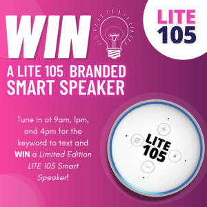 WIN a Lite 105 Branded Smart Speaker!