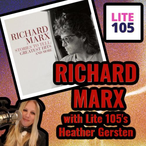 RICHARD MARX with Lite 105's Heather Gersten