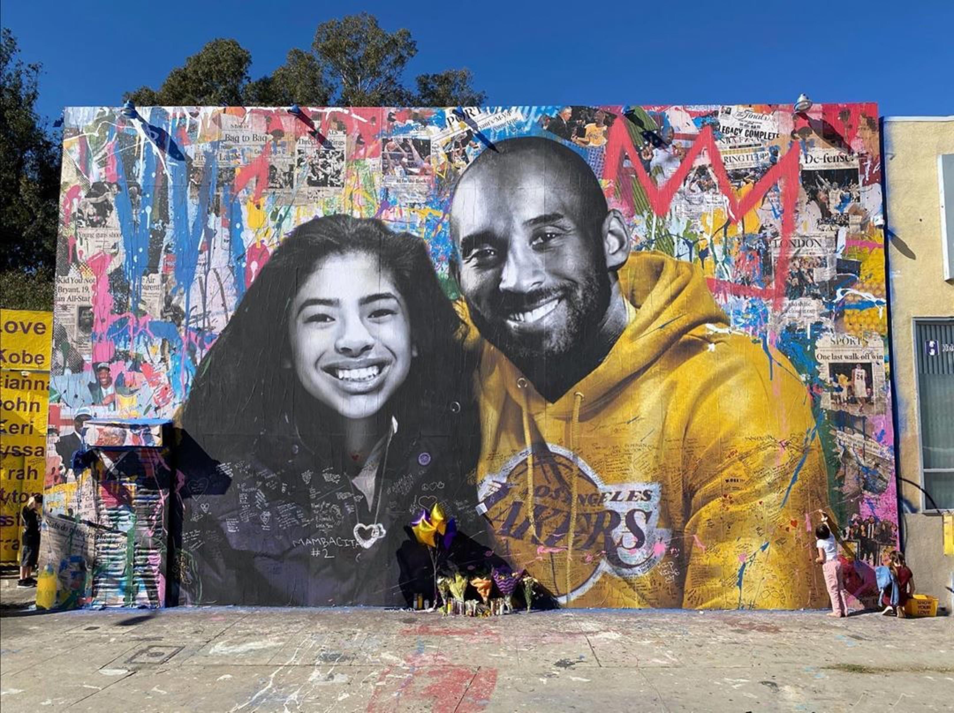 Kobe Bryant's 42nd Birthday Celebrated by Murals, Vanessa & LeBron