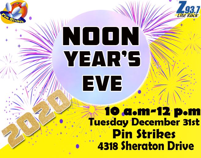 Z 93.7 Lite Rock Noon Year's Eve Celebration