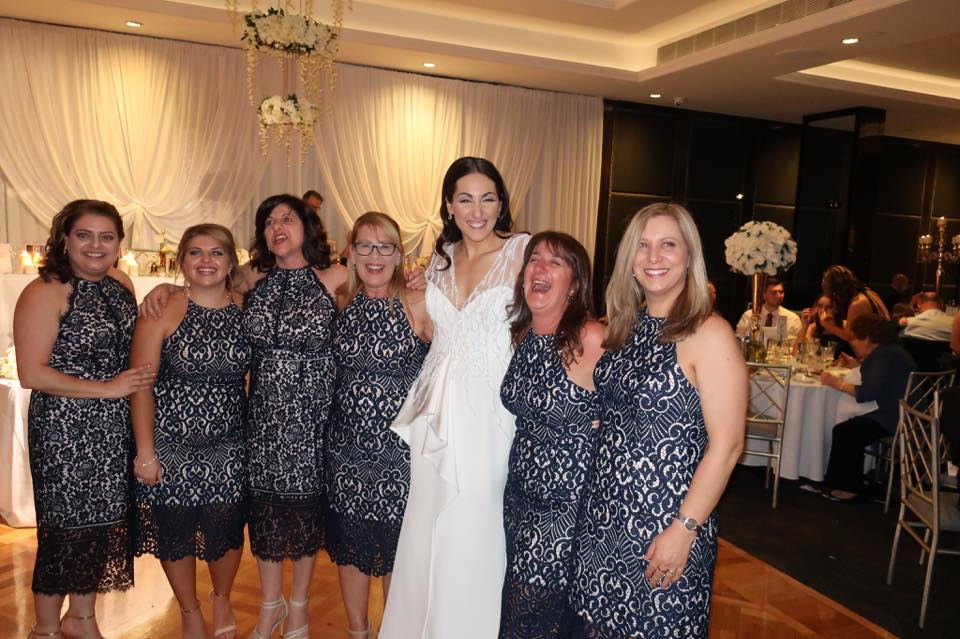 These women aren't her bridesmaids…