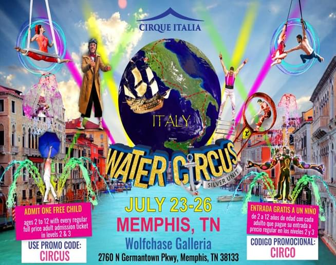 Cirque Italia – Water Circus Silver – Wolfchase Galleria