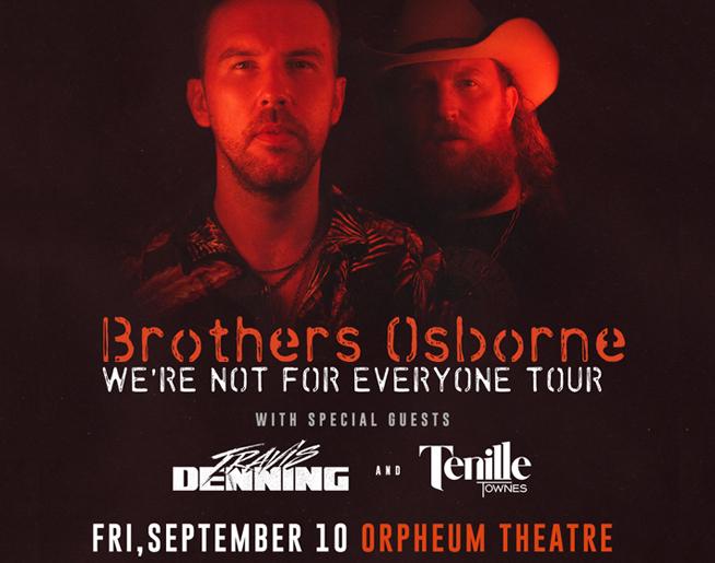 Brothers Osborne – Orpheum Theatre