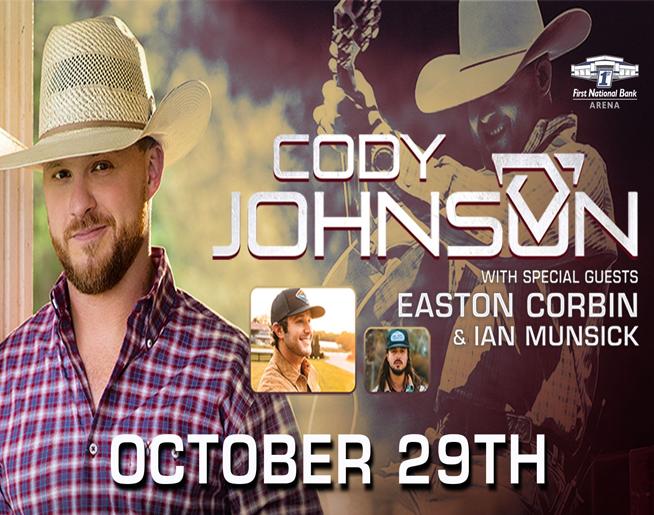 Cody Johnson – First National Bank Arena in Jonesboro