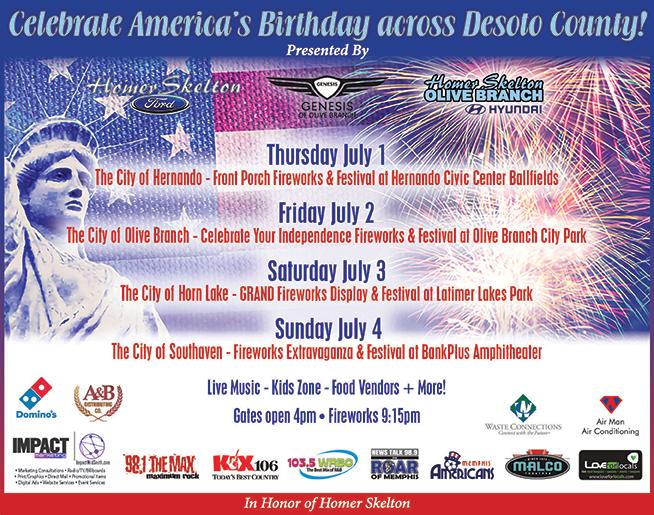 Desoto Fireworks and Festival Celebrations