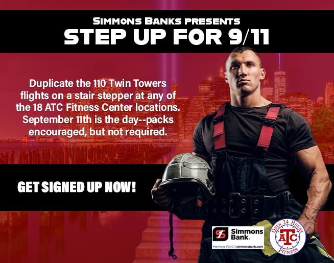 Simmons Bank Step Up for 9/11 at ATC Fitness