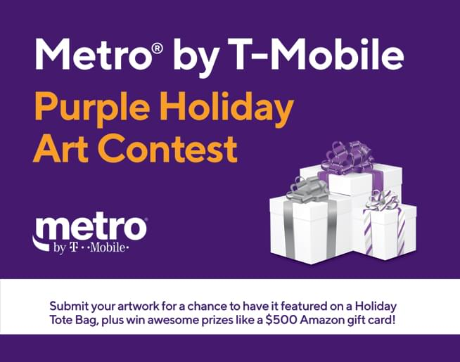 Metro by T-Mobile Purple Holiday Art Contest
