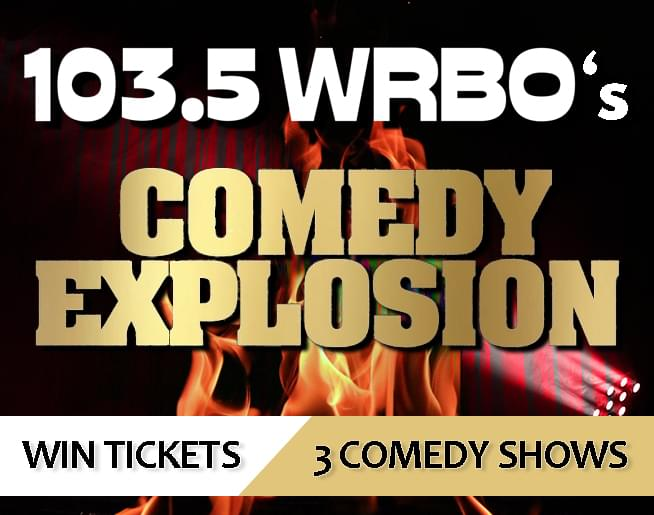 103.5 WRBO's Comedy Explosion – Win Tickets to Three Shows